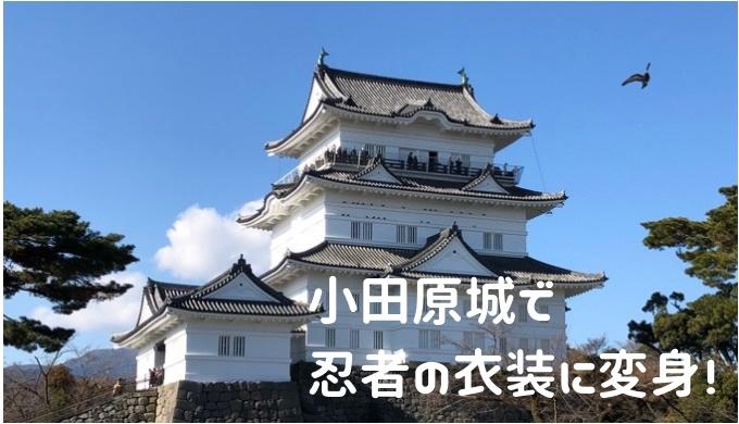 小田原城で忍者の衣装