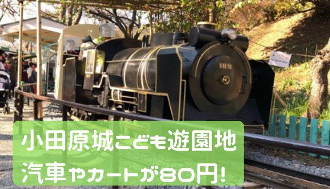 小田原城こども遊園地 汽車やカート